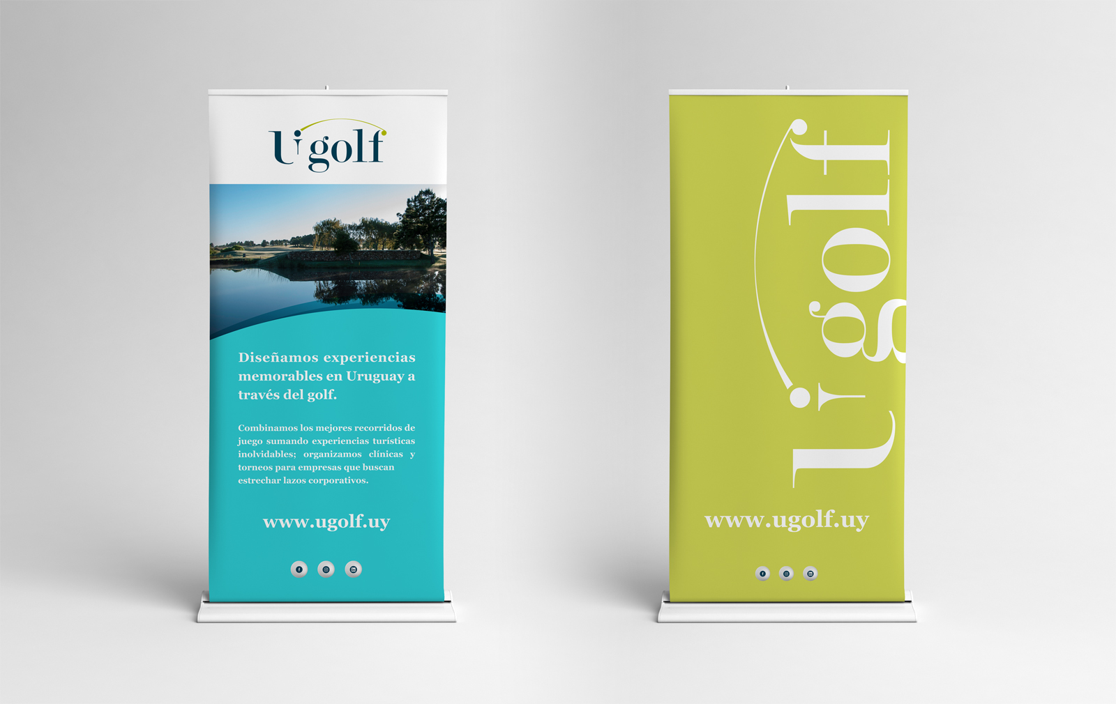 Cliente: UGolf. Identidad visual
