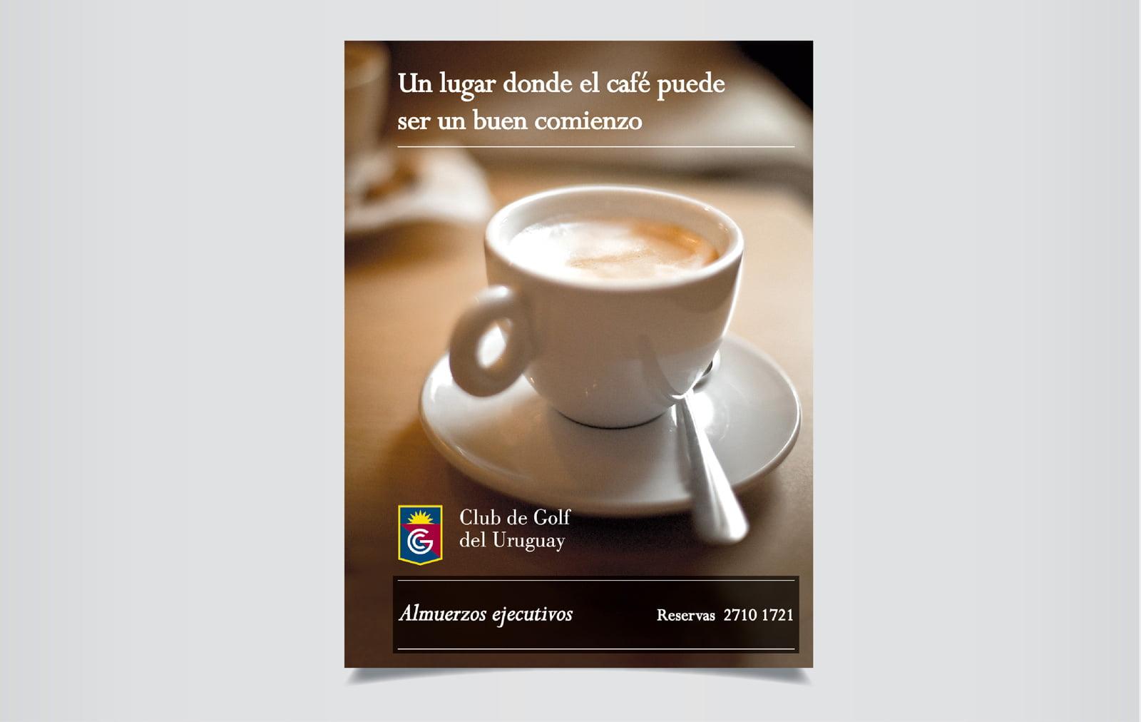 Cliente: CLUB DE GOLF DEL URUGUAY. Prensa Restaurant