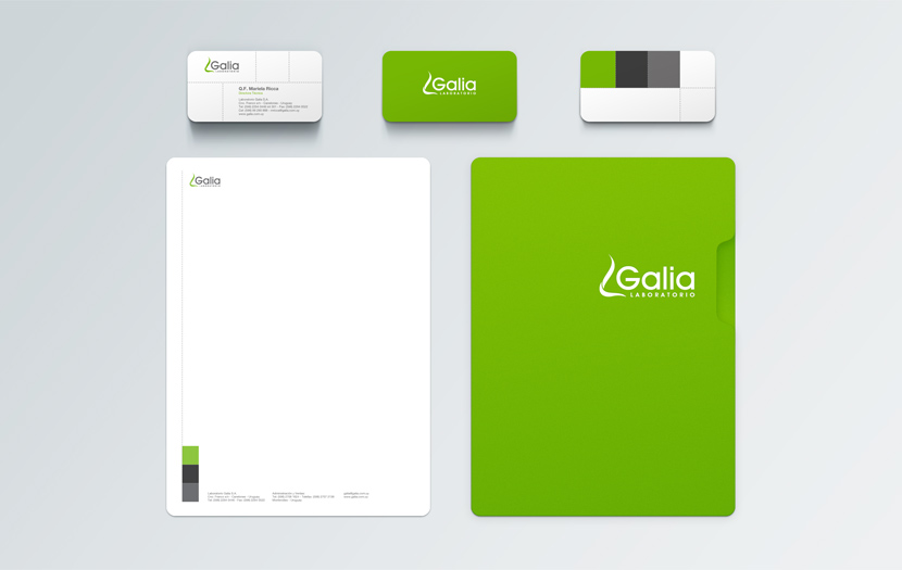 Cliente: LABORATORIO GALIA. Identidad corporativa