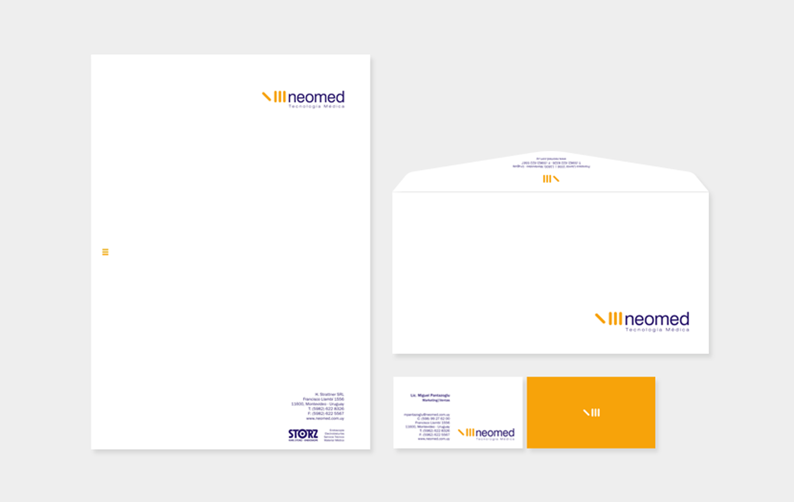 Cliente: NEOMED. Identidad visual