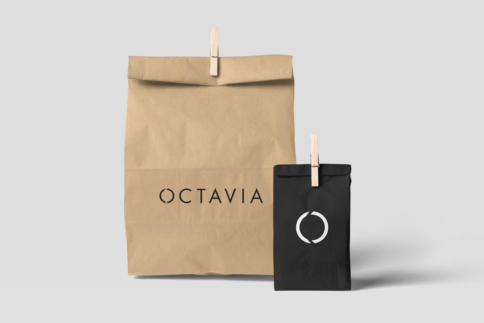 Cliente: OCTAVIA. Isologotipo e identidad gráfica